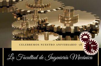 Tarjeta de celebración del Aniversario de la Facultad.