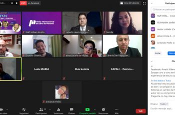 Participantes del Conversatorio virtual.
