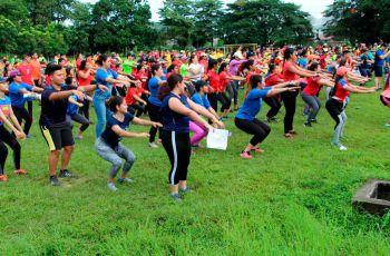 Estudiantes de los centros regionales y del Campus Metropolitano participaron en el Rally de Integración.