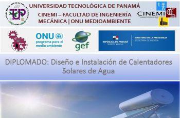 Afiche de Diplomado en Colectores Solares.