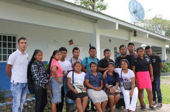 Estudiantes del IPT, de Bisira.