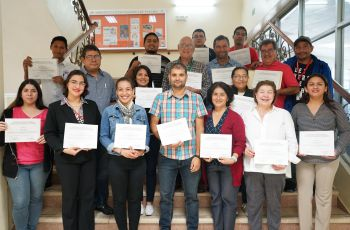 Participantes con certificados en el taller ¨Uso de la Hidrología Isotópica¨