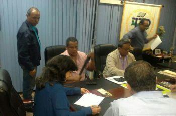 Autoridades de la FIM en el Centro Regional de Chiriquí.