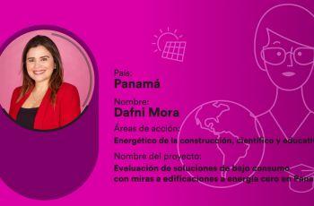 Docente de la UTP, Dra. Dafni Mora.