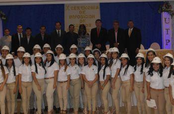 Estudiantes de UTP Veraguas, participan en Imposición de Cascos Ingenieriles
