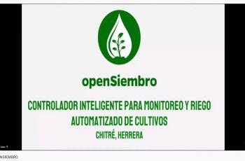 Open Siembro es un controlador inteligente y una aplicación móvil.
