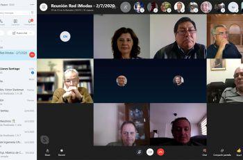 En la imagen se muestran los participantes en la reunión de la Red iModa 2020, que se desarrolló por Skype.