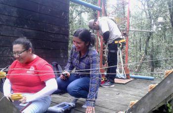 Dra. Nathalia Tejedor, la Ing. Ana Franco, el Lic. Felipe Rivera.