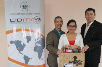 Centro de Investigación Desarrollo e Innovación en Tecnologías de la Información y las Comunicaciones (CIDITIC), recibe donación de equipos por parte del Presidente de APANAC, Dr. Martín Candanedo.