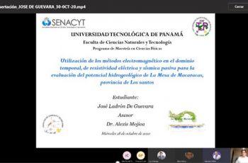 Presentación de la sustentación del Trabajo de Graduación del estudiante José Ladrón de Guevara.
