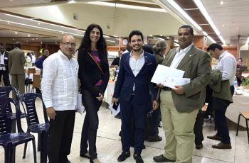 El Ing. Aníbal Fossatti y el Dr. Pablo Montero, en la entrega de Certificado.