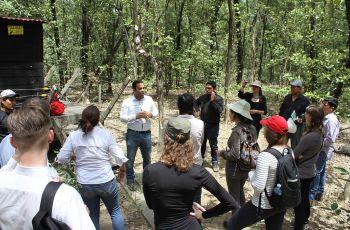 Holandeses visitan el proyecto, del CIHH relacionado a medición de flujo de carbono y agua en los manglares.
