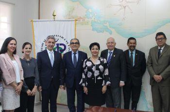 Rector de la UTP recibe visita de Embajador de Israel en Panamá.