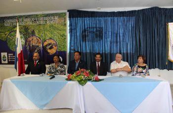 Autoridades universitarias y gubernamentales, miembros de Es Flor de Mayo Investment S.A y de Aeronáutica Civil.
