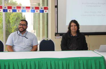 Profesor Javier Sánchez, docente e investigador y Allan Orozco, expositor internacional invitado.