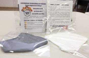 Mascarillas de tela confeccionadas por administrativas de la UTP Chiriquí.
