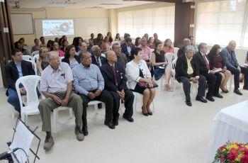 Autoridades de la UTP y de la FIM participaron en el evento de celebración de aniversario.