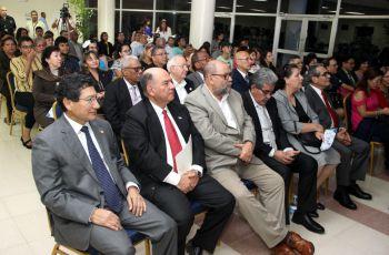 Los Embajadores Centroamericanos, durante la inauguración de la Semana de la Independencia Centroamericana.