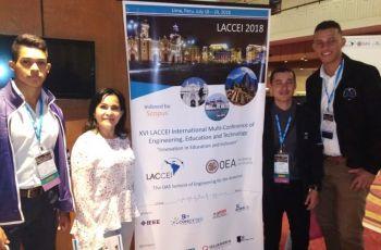 Tres estudiantes de Ingeniería en Sistemas Presentan Proyecto en LACCEI 2018