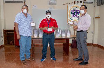 Ing. Adriani Martínez, Subdirector Académico; Dr. Ovidio Mendoza, Director del Minsa Veraguas y el Director del Centro Regional de Veraguas, Ing. Fernando González.