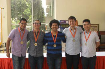 Los ganadores de las Olimpiadas de Matemática 2019 pertenecen a diversas Facultades de la UTP.