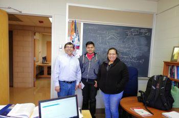 Dr. José Fuentes, Sham Thanekar y Ana Franco.