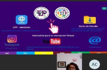 Licda. Liscalizeth Gómez, exponiendo instructivo para inscripción virtual.
