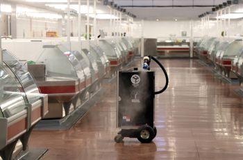 Robot nebulizando.