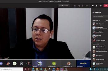 Ing. Jorge Saldaña - Expositor en Videoconferencia.