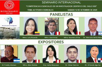 Expositores y panelistas del seminario.