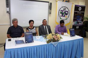 """El Libro """"Estadística General con Aplicaciones"""", fue presentado por docentes de Ing. Industrial."""