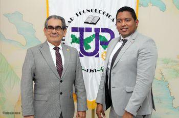 El Rector de la UTP, Ing. Héctor M. Montemayor A. y el Director de la AIG, Ing. Luis Oliva.
