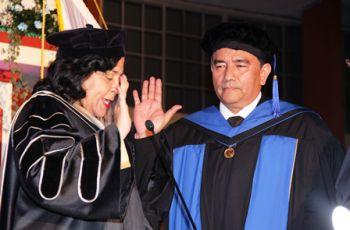 El Doctor Oscar Ramírez, Rector Electo, para el período 2013 – 2018.