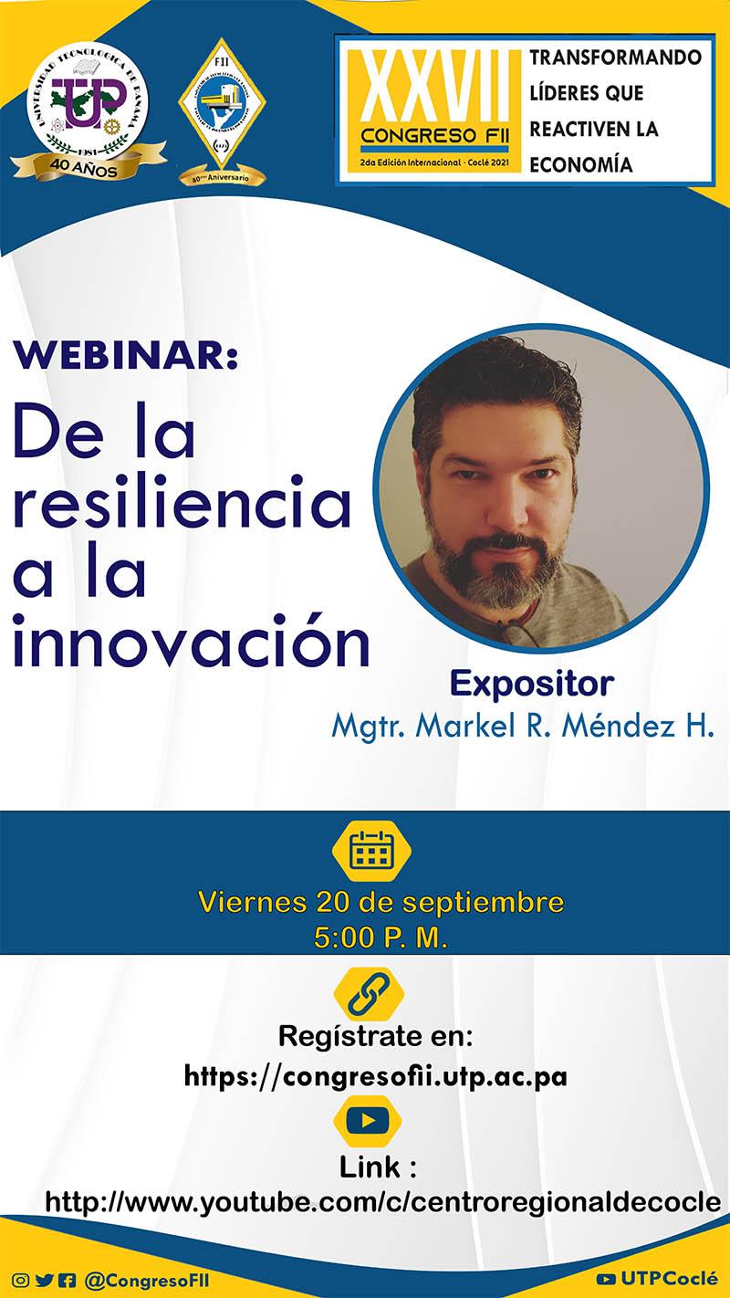 Webinar: De la Resilencia a la Innovación